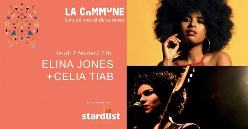 Elina Jones et Célia Tiab  en live à La Commune !