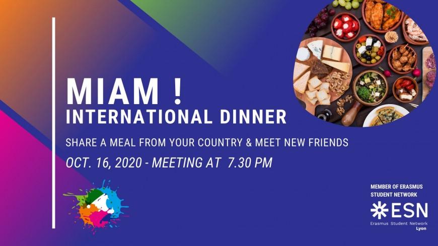 International Dinner with ESN CosmoLyon