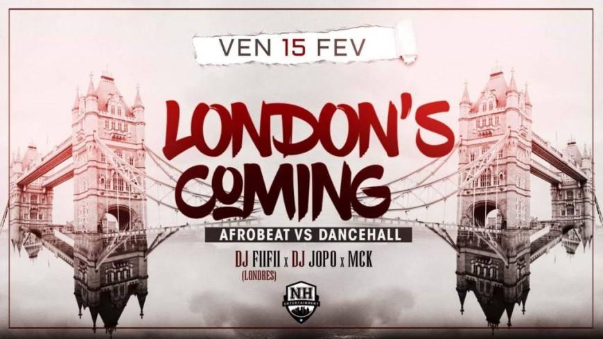 Soirée London is Coming au NH !