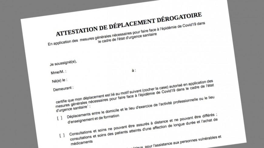 COVID 19 : l'attestation de déplacement ne sera plus obligatoire en journée à partir du 15 décembre