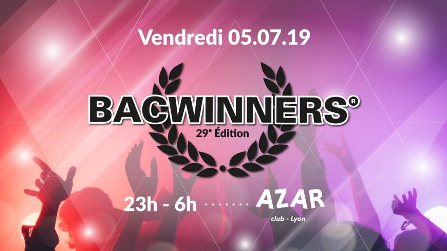 VENDREDI : Bacwinners 2019 au Azar Club