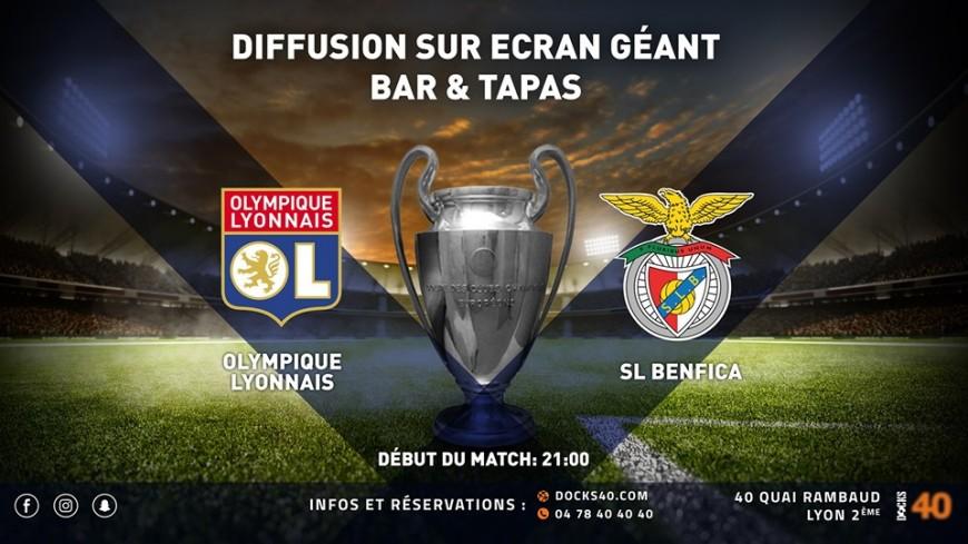 Diffusion du Match OL / SL Benfica