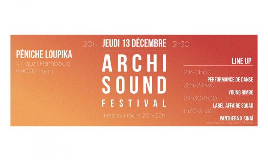 Archisound Festival organise sa 1e soirée OUT !