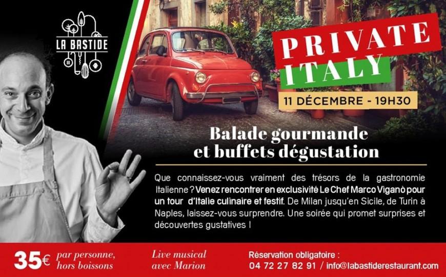 Soirée Private Italy à la Bastide